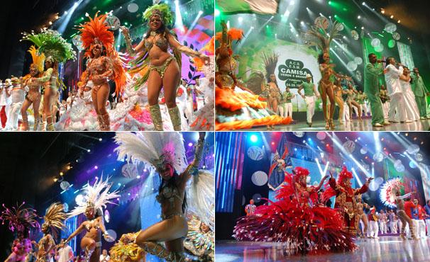 Pérola Negra, Camisa Verde e Branco, X-9 Paulistana e Rosas de Ouro se preparam para o carnaval 2012 (Foto: TV Globo / Zé Paulo Cardeal)