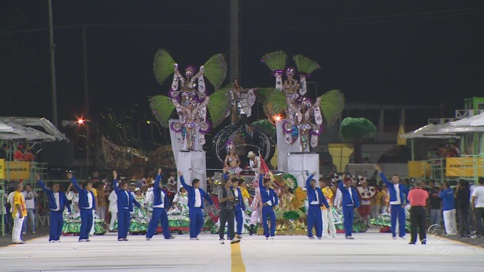 Escolas do grupo C deram início ao carnaval de Manaus (Foto: Bom dia Amazônia)