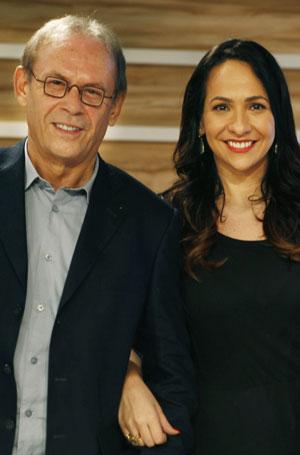 Dupla de apresentação do Oscar: José Wilker e Maria Beltrão (Foto: Divulgação TV Globo)