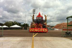 Carro alegórico da Dragões (Foto: Amazônia TV)