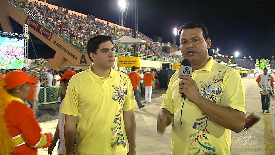 Equipe da Rede Amazônica na cobertura do carnaval de Manaus (Foto: Bom dia Amazônia)