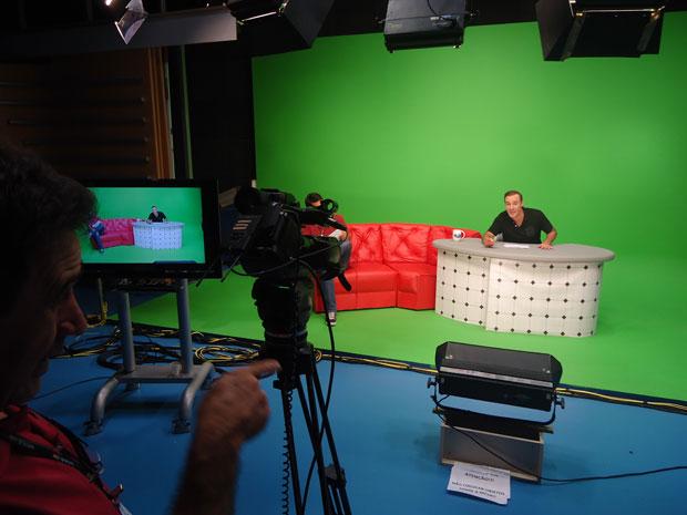 Gravações de Louco Talk Show com Diogo Portugal (Foto: Divulgação/RPC TV)