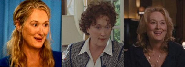 Meryl Streep em 'Simplesmente Complicado', 'Julie & Julia' e 'Mamma Mia' (Foto: Divulgação / Reprodução)