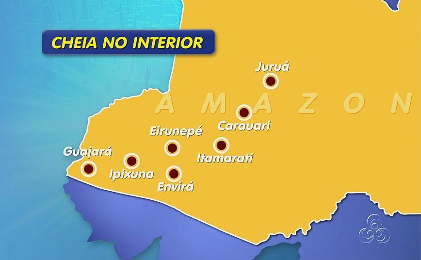 Sete municípios do interior do Amazonas foram afetados pela cheia dos rios (Foto: Jornal do Amazonas)
