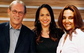 Maria Beltrão, José Wilker e Anna Vianna se preparam para o Oscar (Foto: TV Globo / Matheus Cabral)
