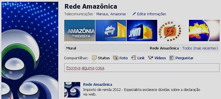 Fan page da Rede Amazônica (Foto: Divulgação)