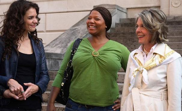 Katie, Diane Keaton e Queen Latifah em 'Loucas Por Amor, Viciadas Em Dinheiro' (Foto: Divulgação / Reprodução)