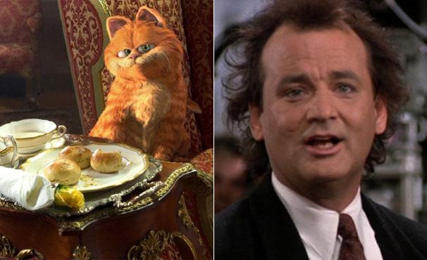 Bill Muray dubla o gato Garfield nos dois filmes da série (Foto: Divulgação / Reprodução)