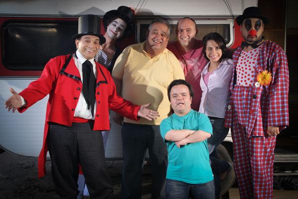 """Gravações de """"3 Feras e Uma Bela"""" (Foto: Divulgação/RPC TV)"""