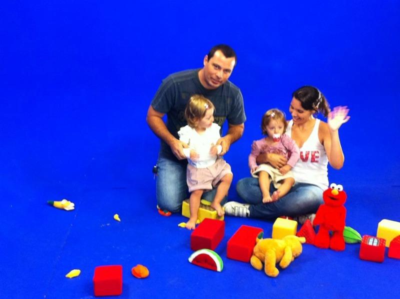 Pequeninos se divertem nos bastidores (Foto: Arquivo / TV Tem)