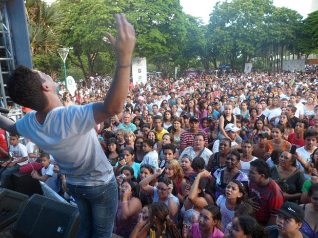 RPC TV na Praça Maringá (Foto: Divulgação/RPC TV)