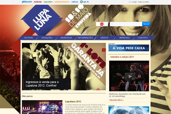 Site oficial lupaluna (Foto: RPC TV)
