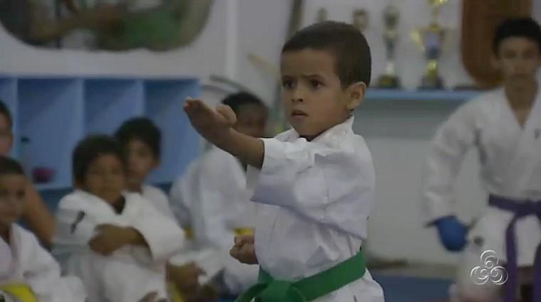 Disciplina, atenção e dedicação no treinamento para o campeonato brasileiro de Karatê (Foto: Bom dia Amazônia)