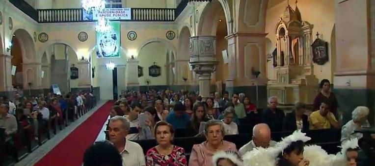 Missa de casais de São José, em Manaus (Foto: Bom dia Amazônia)