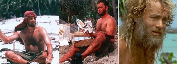 Tom Hanks é o protagonista de 'Náufrago' (Foto: Divulgação / Reprodução)