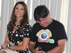 Maria Melilo e Marcelo Madureira no encontro (Foto: Divulgação / TV Globo)