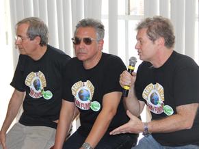 Reinaldo, Huberti e Beto Silva contam novidades (Foto: Divulgação / TV Globo)