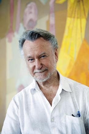 João Candido Portinari no Ateliê de Restauro dos Painéis Guerra e Paz no Palácio Gustavo de Capanema  (Foto: Divulgação)