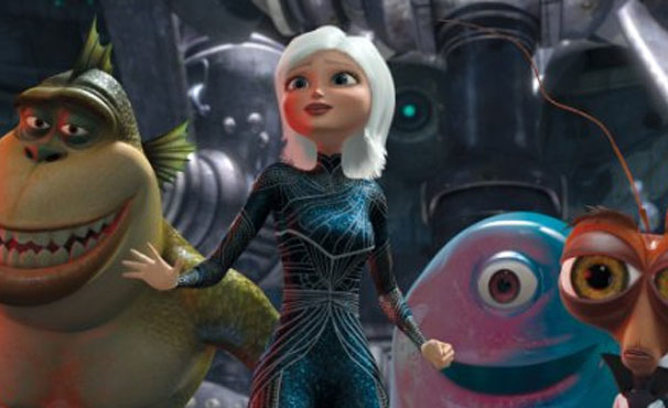 Susan e seus amigos monstros enfrentam ameaça alienígena para salvar a Terra (Foto: Divulgação / Reprodução)