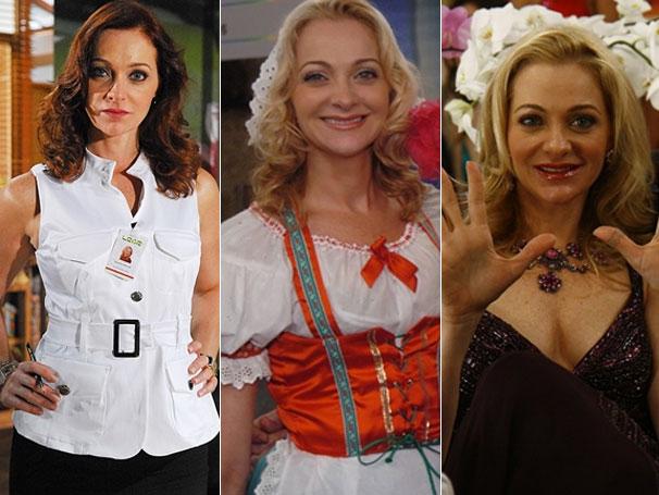 Confira os diferentes visuais de Alexandra Richter em 'Passione' e 'Zorra Total' (Foto: Divulgação / TV Globo)