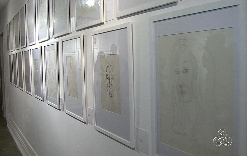 Exposição reúne 117 do artista carioca Di Cavalcanti (Foto: Amazônia Tv)