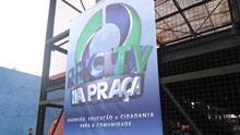 RPC TV na Praça Curitiba (Foto: Divulgação/RPC TV)