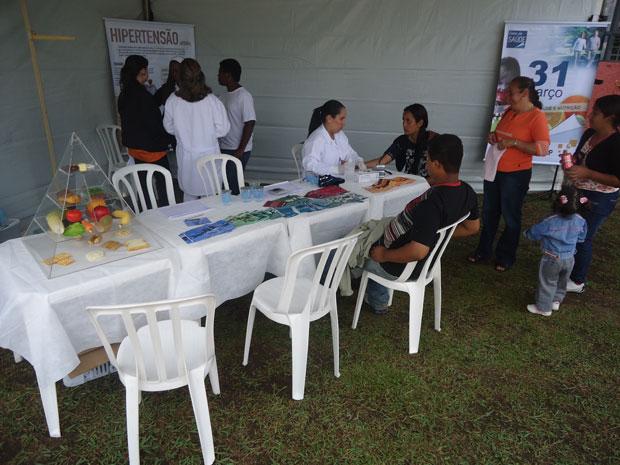 Estação Saúde no RPC TV na Praça (Foto: Divulgação/RPC TV)