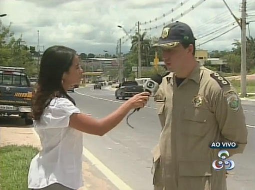 Chefe da Polícia Rodoviária Federal/AM fala sobre cuidados que devem ser tomados nas estradas (Foto: Amazônia TV)