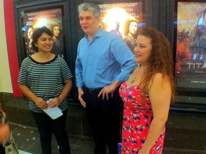 Exibição contou com a presença do co-produtor e da atriz Karla Karenina (Foto: Bom dia Amazônia)