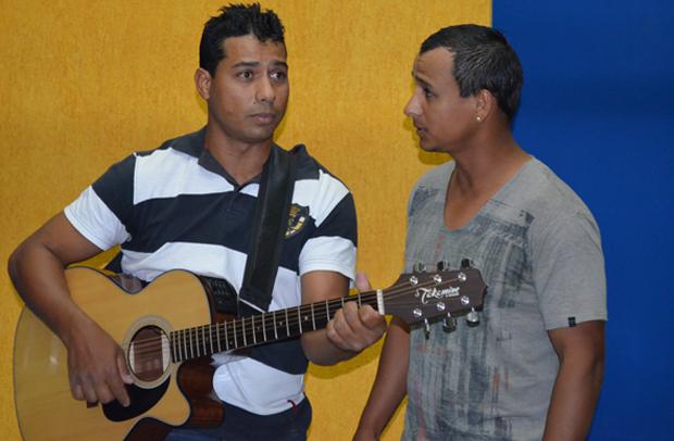 A dupla Fabio César e Fabiano durante seleção para o 'Se Vira nos 30' (Foto: Fabiana de Paula / Globo.com)