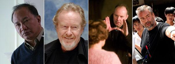 Os diretores John Woo, Ridley Scott, David Yates e Luc Besson (Foto: Divulgação / Reprodução)