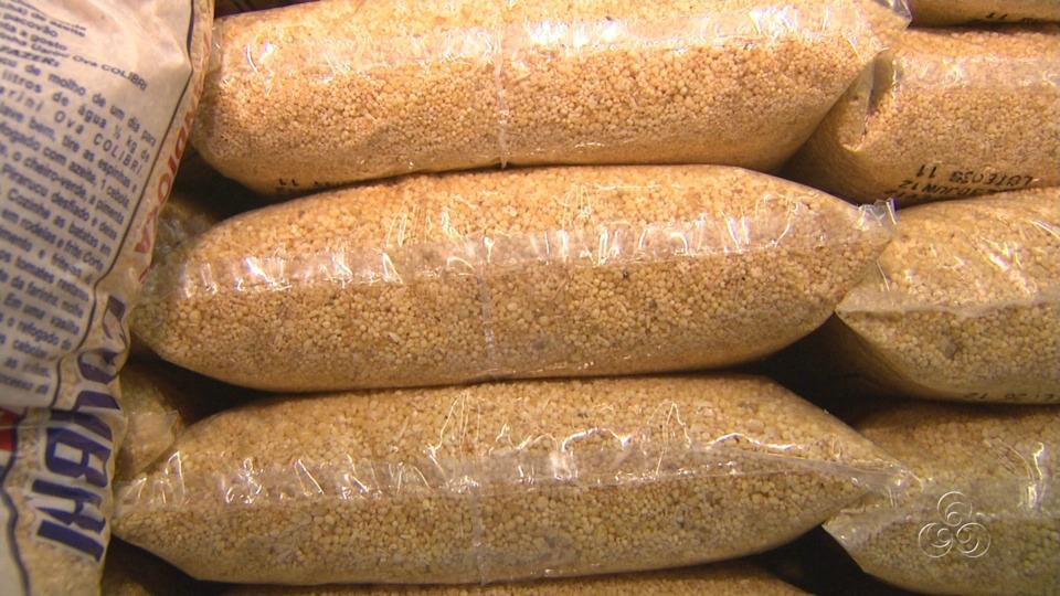O preço da farinha também sofreu reajuste (Foto: Jornal do Amazonas)