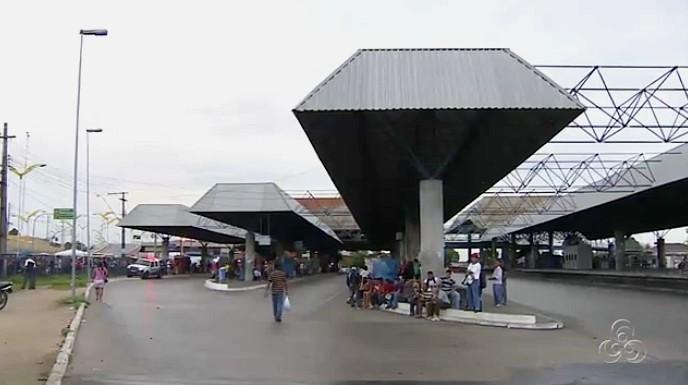 Paralisação no transporte coletivo causa transtorno em Manaus (Foto: Bom dia Amazônia)