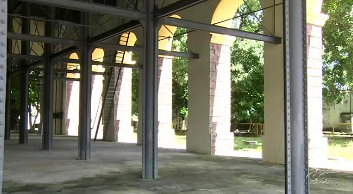 O centenário reservatório continua em funcionamento (Foto: Amazônia TV)