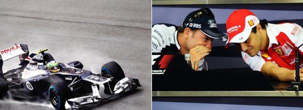 Bruno Senna diz que carro rende bem no seco e no molhado; Barrichello dá dica para Massa (Foto: Getty Images / Divulgação: Globoesporte.com)