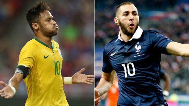 Futebol: Brasil x França