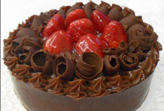 Chocolate Fondue Birthday Cake
