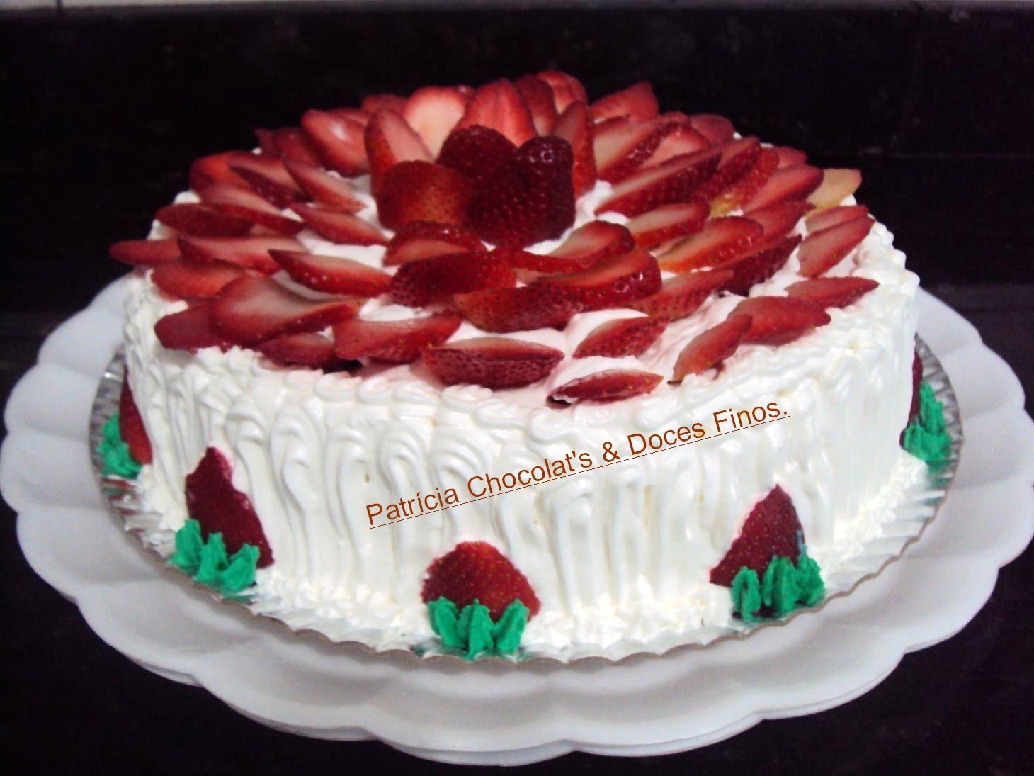 Bolo De Morango Tortas e bolos> Receita de Bolo Receitas Gshow -> Decoração Para Bolo Com Morango