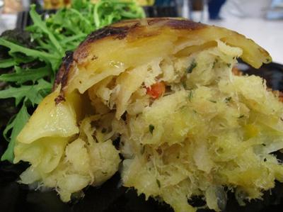 Bacalhau enformado com batata