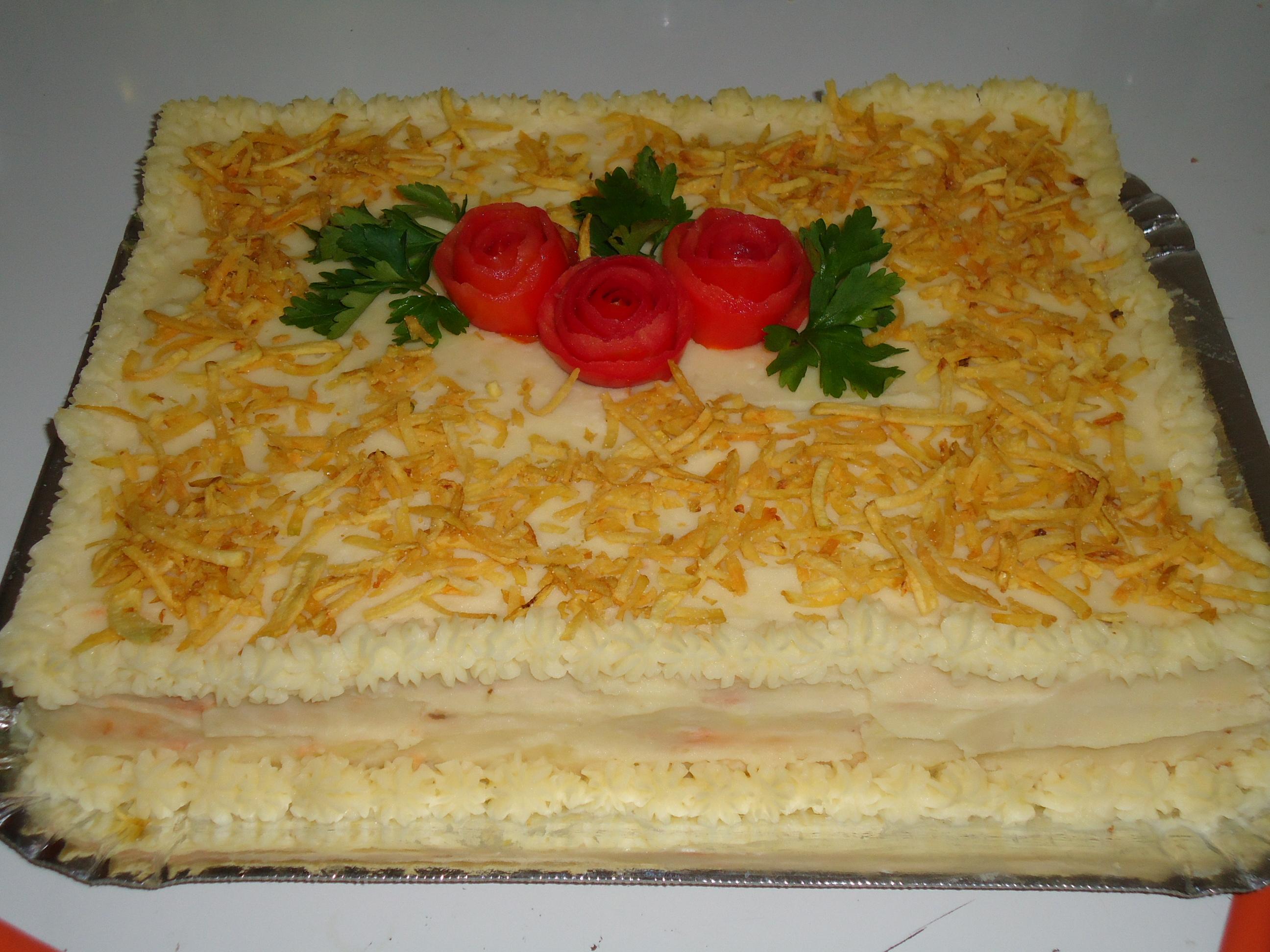 Torta de p u00e3o de forma, recheada com frango Tortas e bolos> Torta de Frango Receitas Gshow