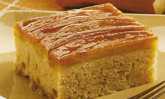 bolo de canela com crème