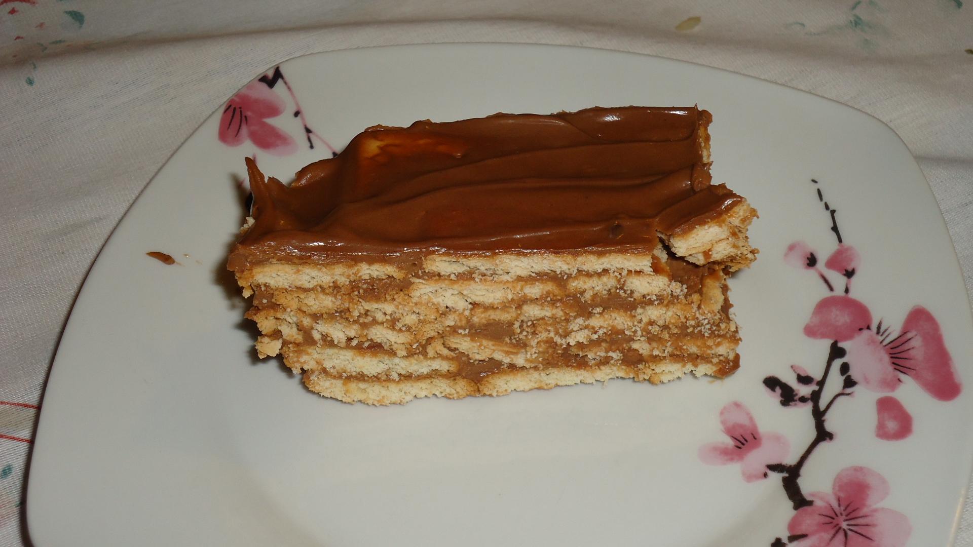 Fabuloso Torta de bolacha de chocolate e/ou doce de leite | Tortas e bolos  YZ88