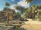 Uma pequena ilha paradisíaca virou cenário de guerra. (Foto: Divulgação) (Foto: Uma pequena ilha paradisíaca virou cenário de guerra. (Foto: Divulgação))