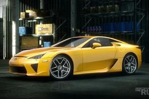 """Lexus LFA, um dos exclusivos da versão PS3 de """"NFS: The Run"""" (Foto: Divulgação)"""