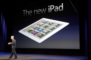 Tim Cook, atual CEO da Apple, falando sobre o Novo iPad  (Foto: Reprodução/CNet)