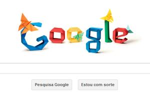 oodle do Google em homenagem aos 101 anos de Akira Yoshizawa, o mestre do origami (Foto: Reprodução/Google)