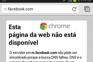 Erro do Facebook (Foto: TechTudo)