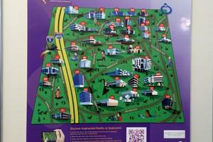 Mapa do campus da Qualcomm e todas as empresas de tecnologia (Foto: TechTudo / Fabrício Vitorino)