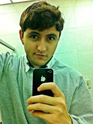 Vinicius e seu iPhone (Foto: Vinicius Lima) (Foto: Vinicius e seu iPhone (Foto: Vinicius Lima))