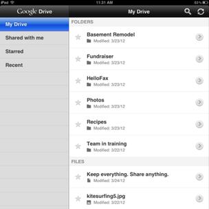 Google Drive para iPad (Foto: Reprodução/)